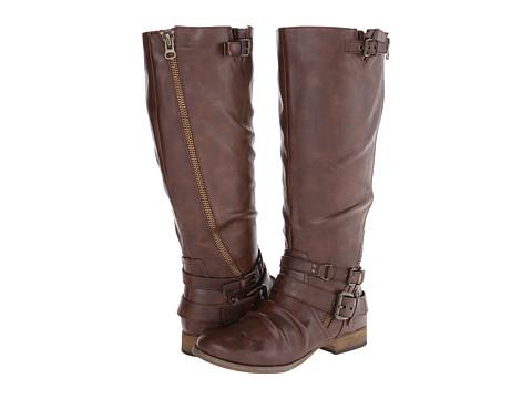 CARLOS by Carlos Santana - Hanna 2 Wide Shaft (Brown) Women's Zip Boots