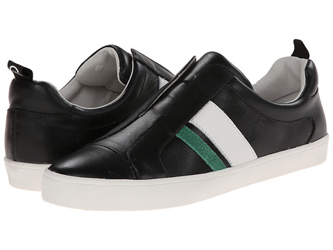 10 Crosby Derek Lam - Laurel (Black/Kelly Green/White) Women's Slip on Shoes