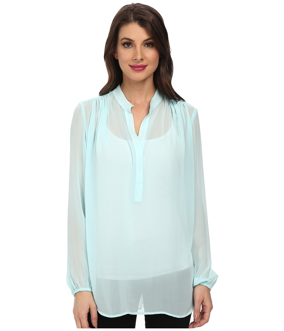 Karen Kane - Open Placket Shirred Top (Mist) Women's Blouse