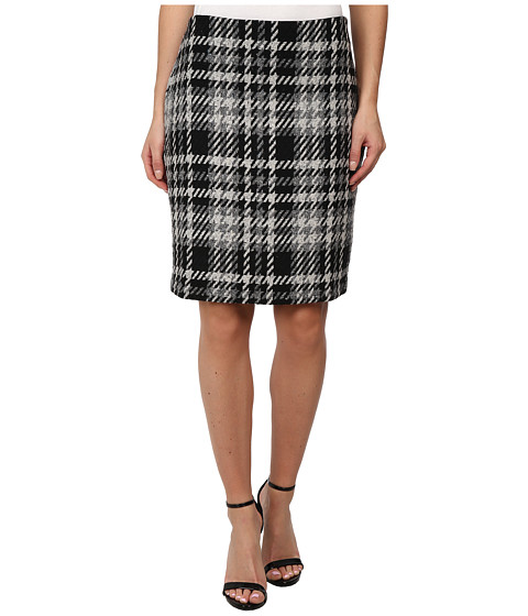 Karen Kane - Woven Plaid Pencil Skirt (Gold w/ Black) Women's Skirt