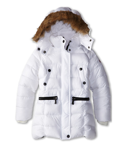 Weatherproof Kids - Long Bubble Jacket (Little Kids) (White) Girl's Coat