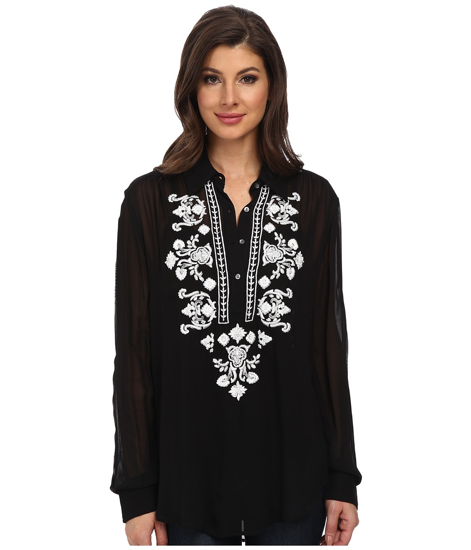 Karen Kane - Beaded Blouse (Black) Women's Blouse