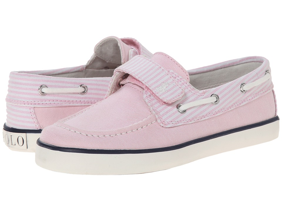 Polo Ralph Lauren Kids - Sander EZ (Little Kid) (Light Pink w/ White Stripe) Girl's Shoes