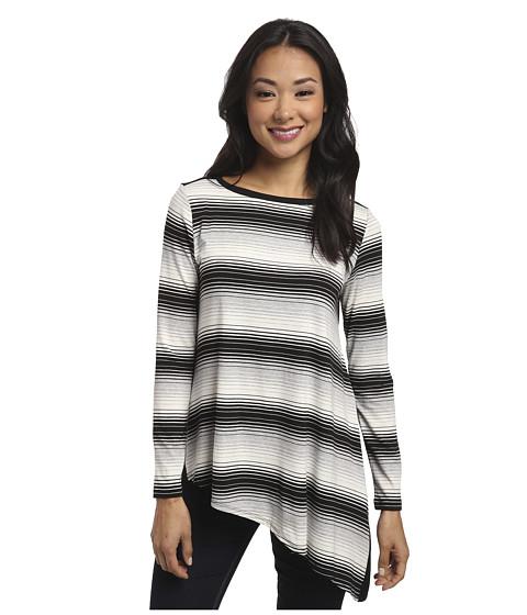 Karen Kane - Asymmetrical Hem Tee (Stripe) Women's T Shirt