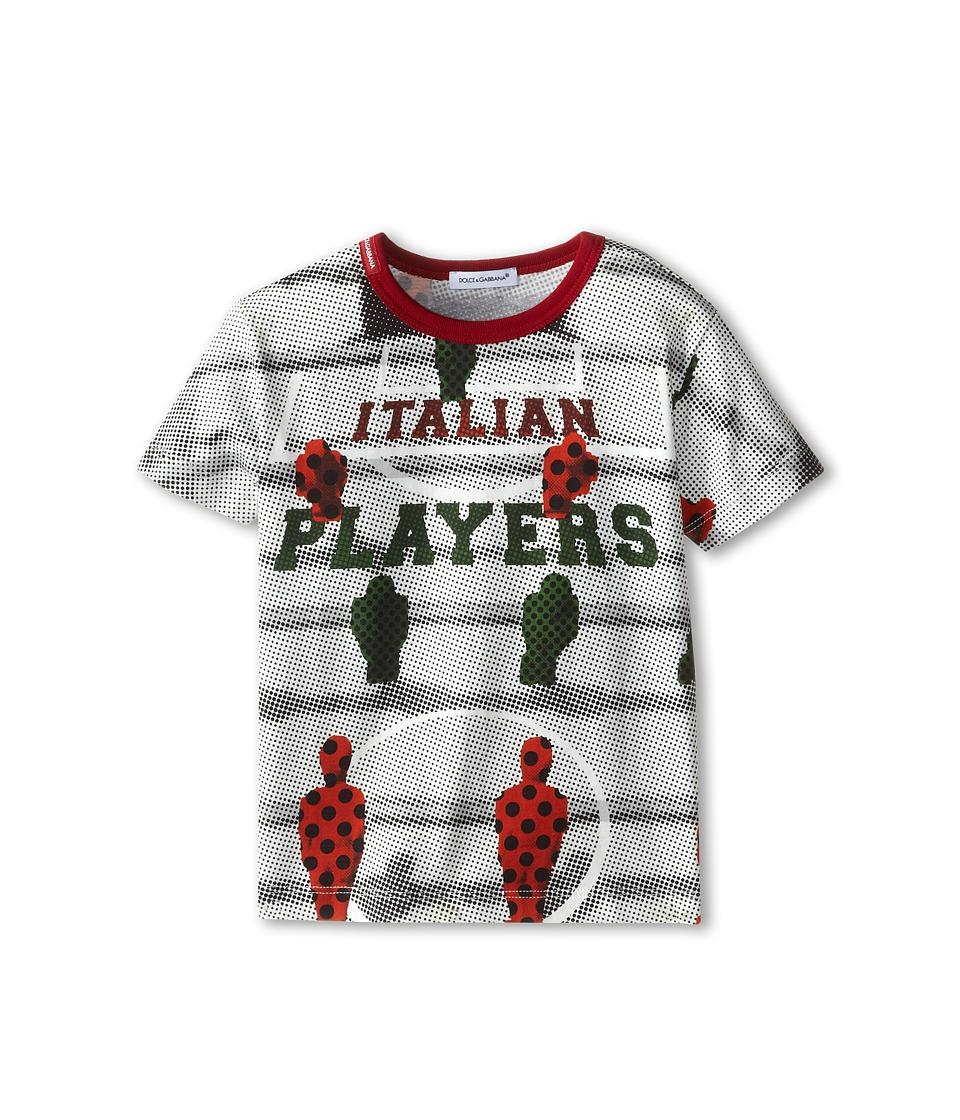 Dolce & Gabbana - Italian Player Tee (Toddler/Little Kids) (White) Men