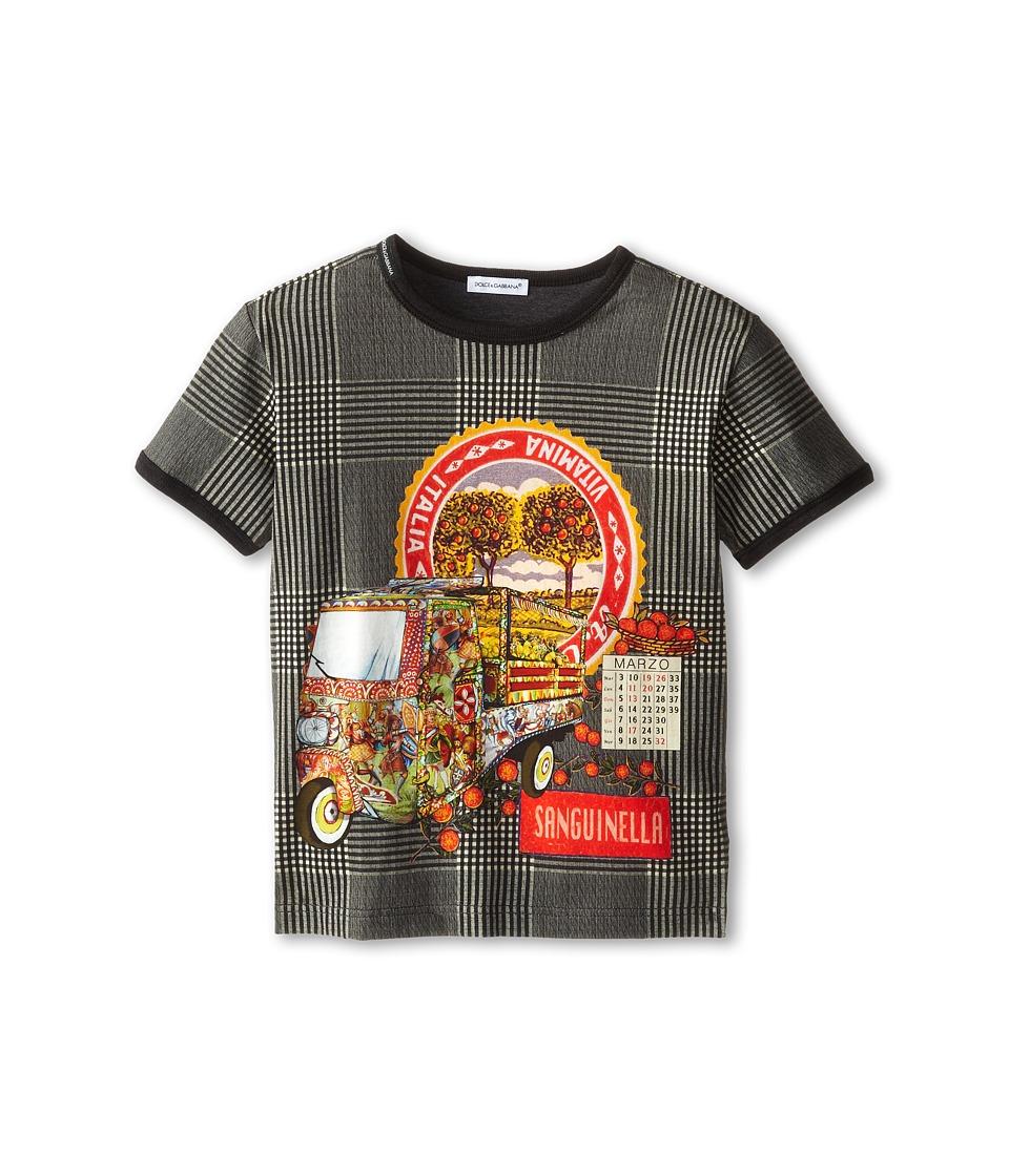 Dolce & Gabbana - Printed Crew Neck Tee (Toddler/Little Kids) (Green) Men's T Shirt
