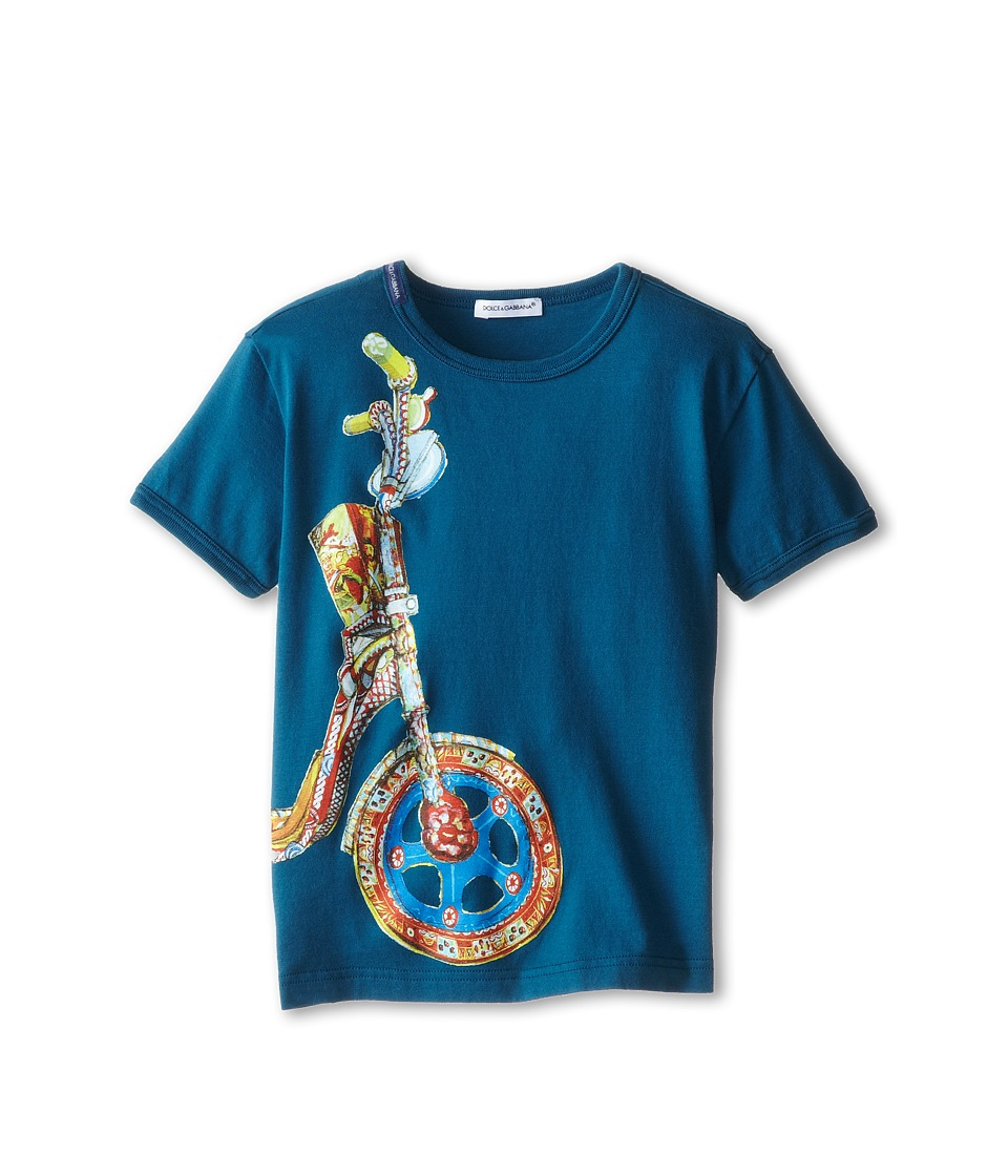 Dolce & Gabbana - Motorcycle Wheel Tee (Toddler/Little Kids) (Blue) Men's T Shirt