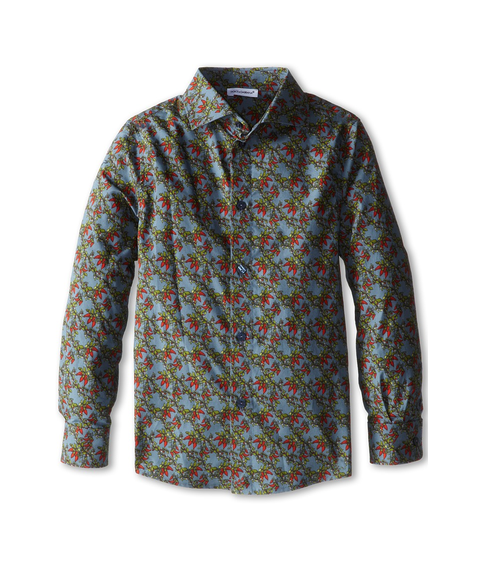 Dolce & Gabbana - Printed L/S Button Up (Toddler/Little Kids) (Multi) Men's Long Sleeve Button Up