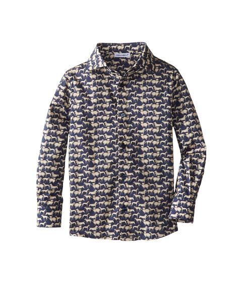 Dolce & Gabbana - Dog Print Button Up (Toddler/Little Kids) (Multi) Men's Long Sleeve Button Up