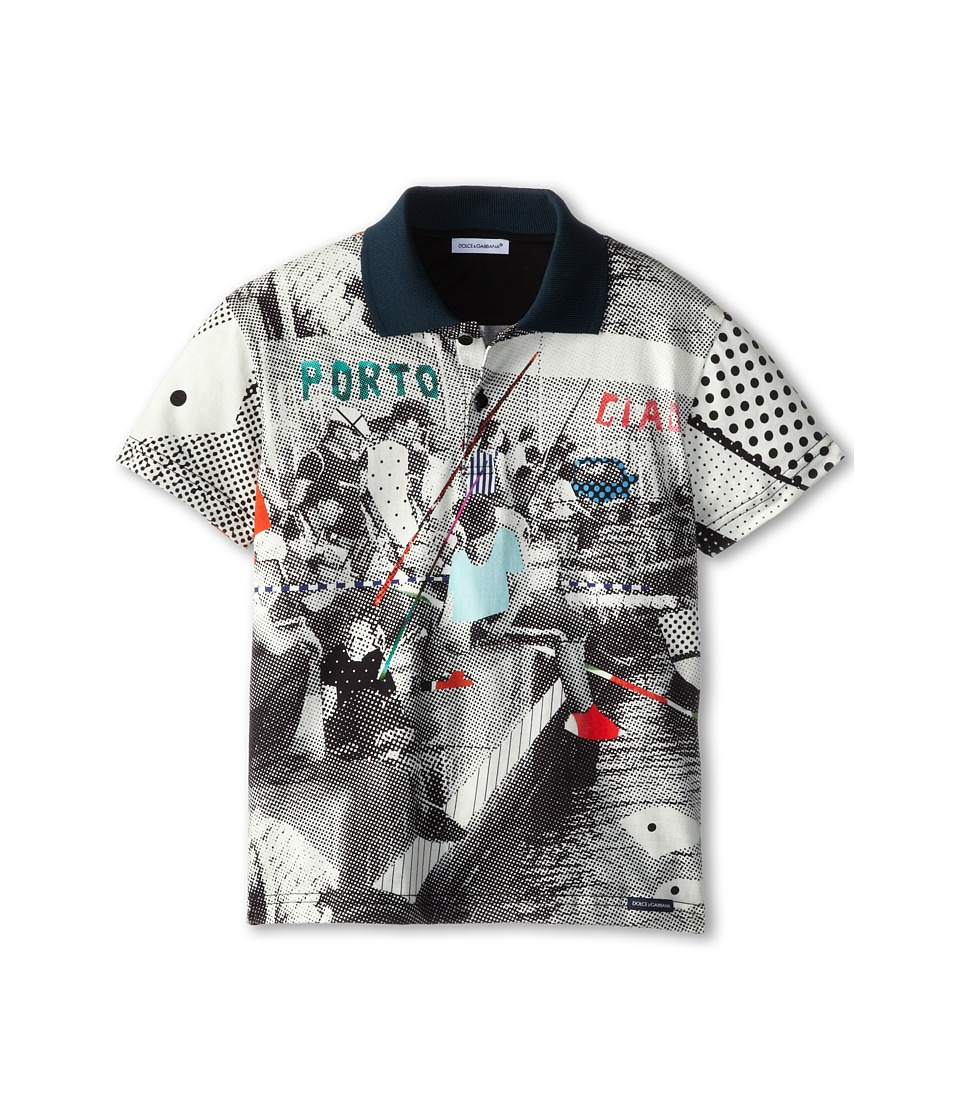 Dolce & Gabbana - Fishing Poles Print Tee (Toddler/Little Kids) (Multi) Men's T Shirt