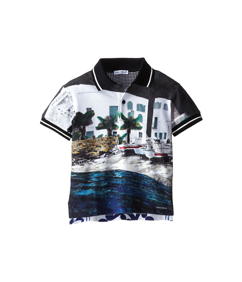 Dolce & Gabbana - Beach Print Polo (Toddler/Little Kids) (Multi) Men