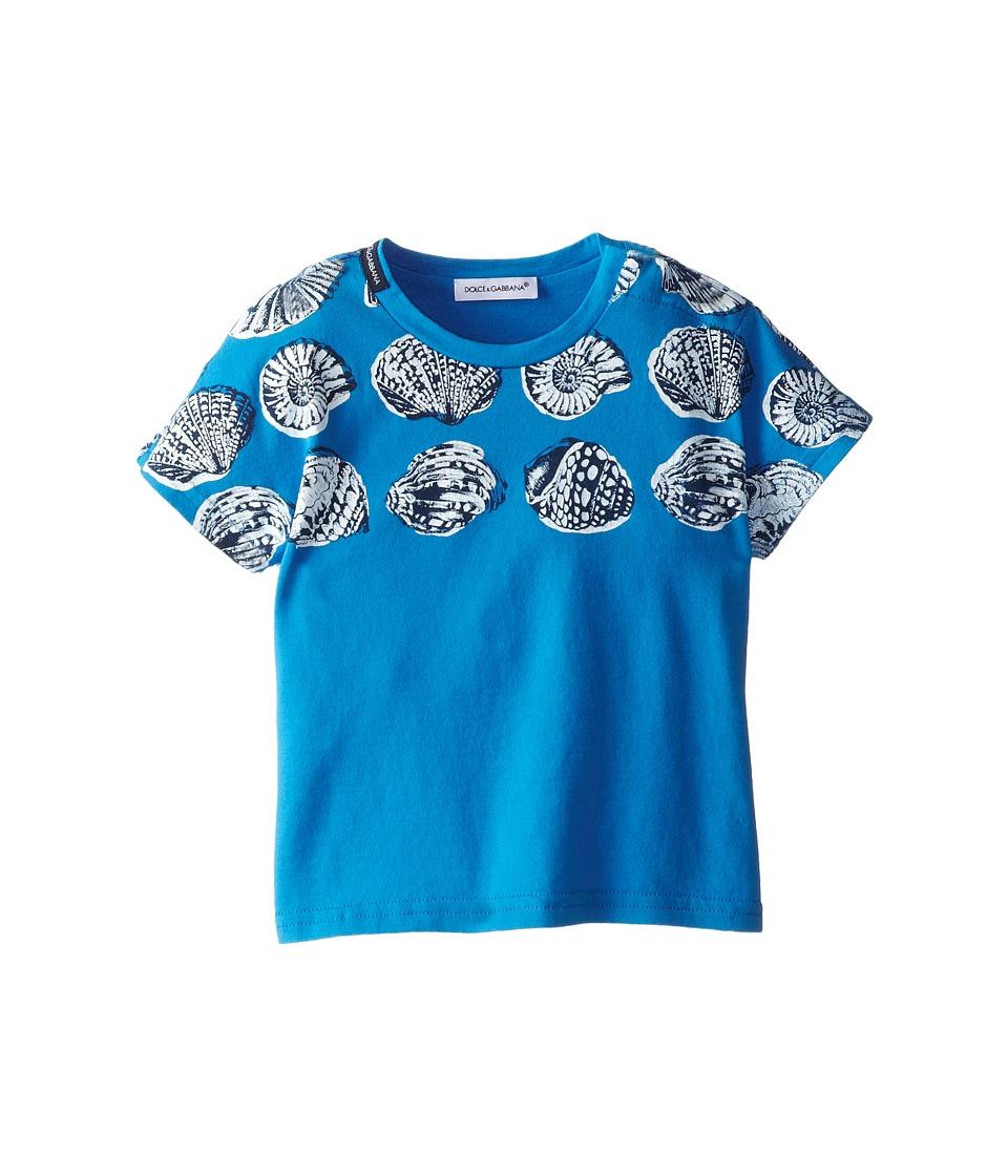 Dolce & Gabbana - Shell Print Tee (Infant) (Blue) Men