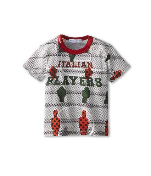Dolce & Gabbana - Italian Player Tee (Infant) (Multi) Men