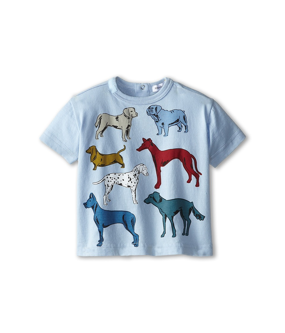 Dolce & Gabbana Kids - Dog Print Tee (Infant) (Blue) Boy's T Shirt