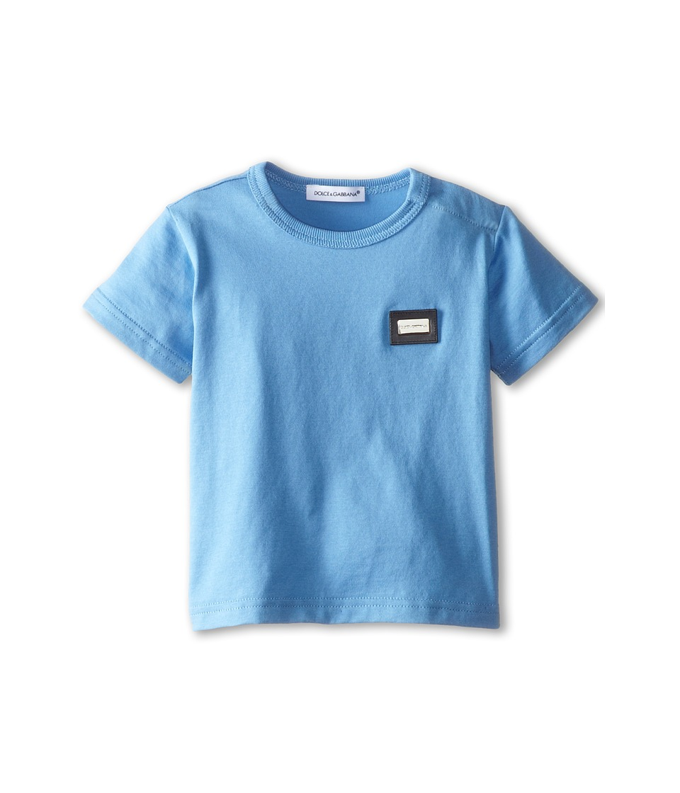 Dolce & Gabbana - S/S Logo Tee (Infant) (Sky) Men's T Shirt