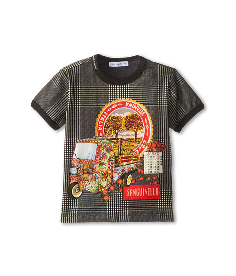 Dolce & Gabbana - Van Print Tee (Infant) (Black/White) Men's T Shirt