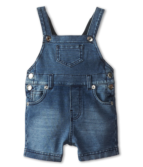Dolce & Gabbana - Denim Short Overalls (Infant) (Blue) Men's Overalls One Piece