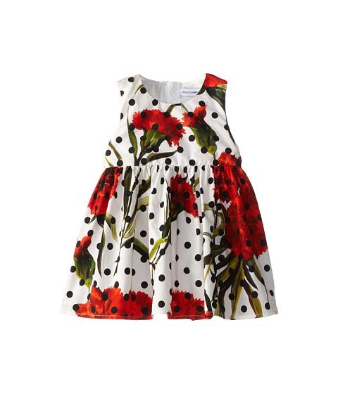 Dolce & Gabbana - Poplin Two Piece Polka Dot Dress (Infant) (White Multi) Women's Dress