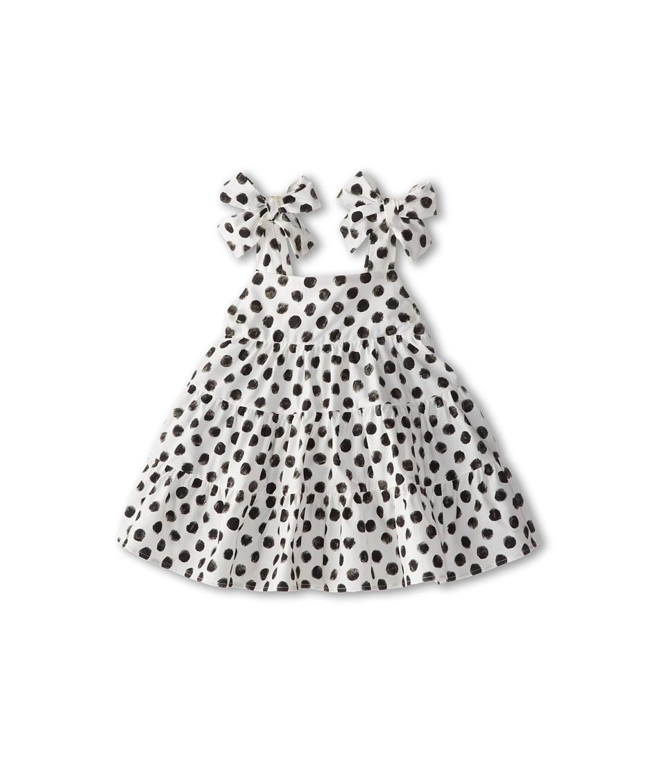 Dolce & Gabbana - Halter Polka Dot Dress (Infant) (White/Black) Women