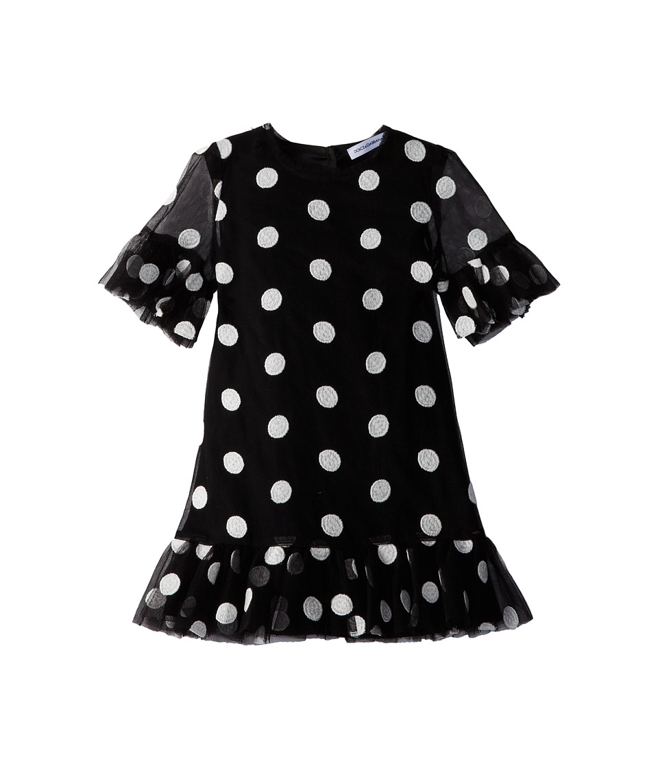 Dolce & Gabbana Kids - S/S Polka Dot Dress (Infant) (Black/White) Girl's Dress