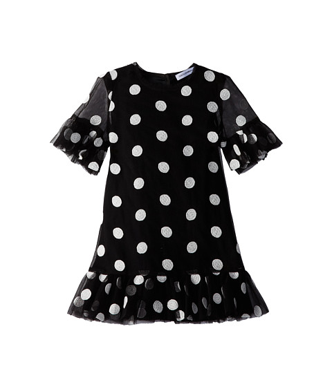 Dolce & Gabbana - S/S Polka Dot Dress (Infant) (Black/White) Women