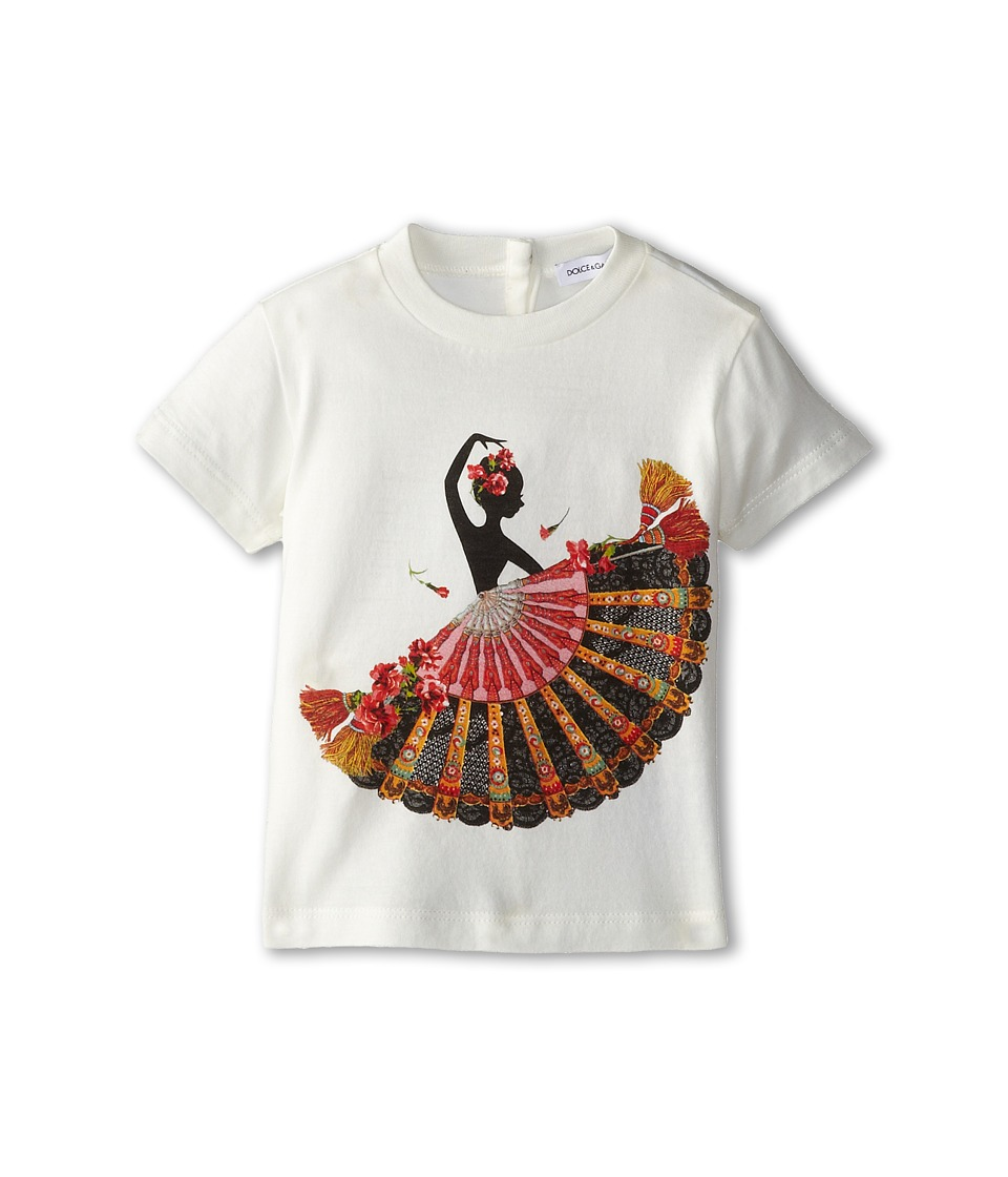 Dolce & Gabbana - Flamenco S/S Tee (Infant) (White) Women's T Shirt