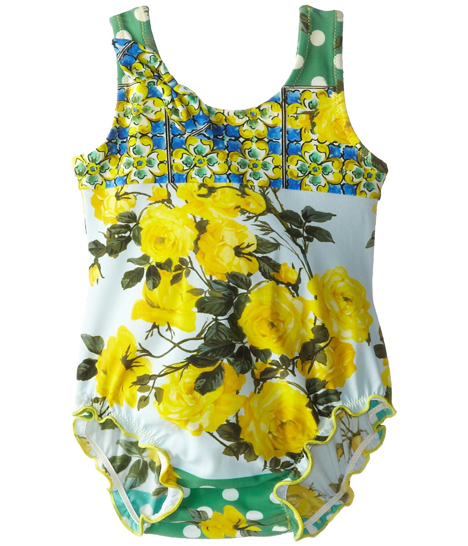 Dolce & Gabbana - Floral Vase One Piece (Infant) (Multi) Women's Jumpsuit & Rompers One Piece