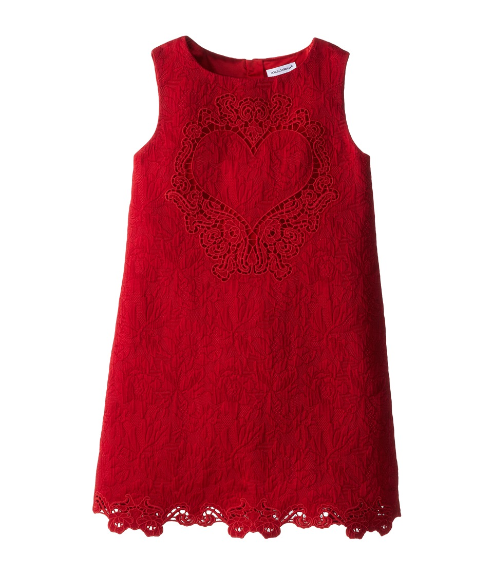 Dolce & Gabbana Kids - Lace Dress (Toddler/Little Kids) (Red) Girl's Dress