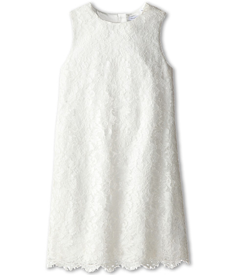 Dolce & Gabbana - Lace Sleeveless Dress (Big Kids) (White) Women