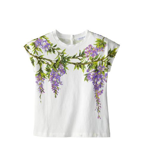 Dolce & Gabbana - Jersey Glicine Tshirt (Big Kids) (White) Women