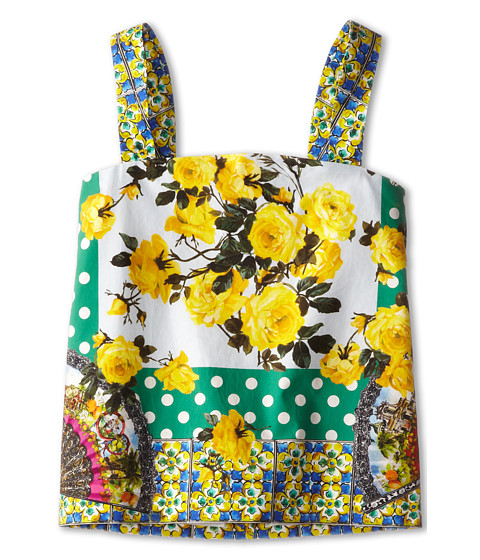 Dolce & Gabbana - Floral Print Camisole (Toddler/Little Kids) (Yellow/Green) Women