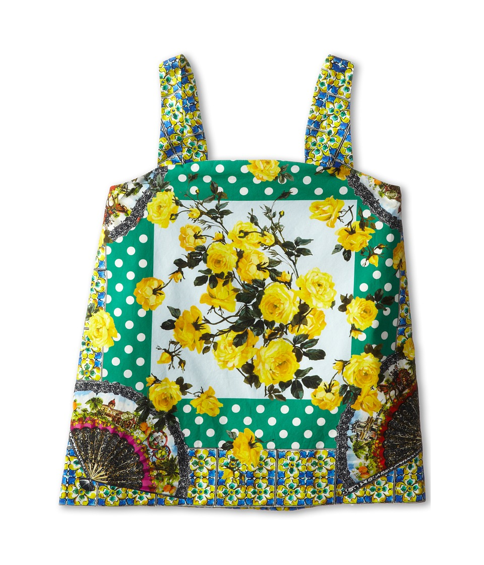 Dolce & Gabbana - Floral Print Camisole (Big Kids) (Yellow/Green) Women's Sweater