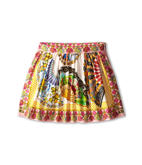 Dolce & Gabbana - Fan Print Skirt (Toddler/Little Kids) (Multi) Women