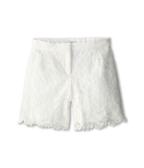 Dolce & Gabbana - Lace Shorts (Big Kids) (White) Women