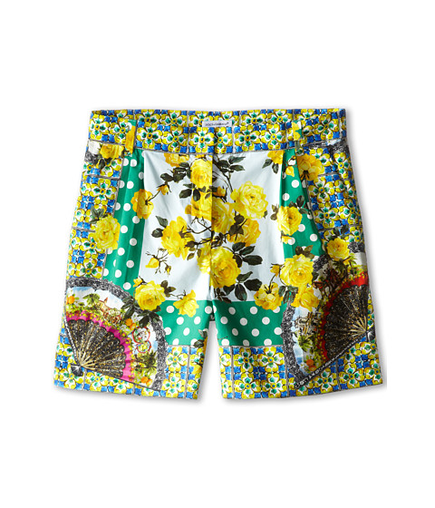 Dolce & Gabbana - Floral Print Short (Big Kids) (Multi) Women