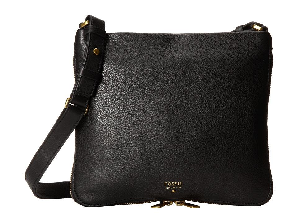 Fossil - Preston Crossbody (Black) Cross Body Handbags