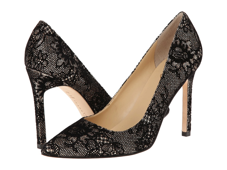 Ivanka Trump Carra 4 (Black/Gold Suede Lace) High Heels