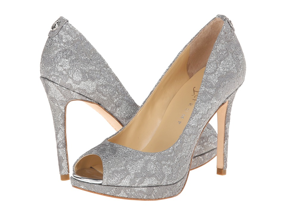 Ivanka Trump Maggie 6 (Silver Glitter Lace) High Heels