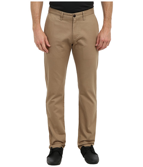 Dockers Men's - Game Day Alpha Khaki Slim Tape Red Flat Front Pant (Auburn - New British Khaki) Men's Casual Pants