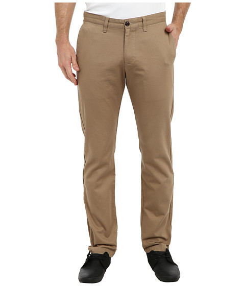 Dockers Men's - Game Day Alpha Khaki Slim Tape Red Flat Front Pant (Maryland - New British Khaki) Men's Casual Pants