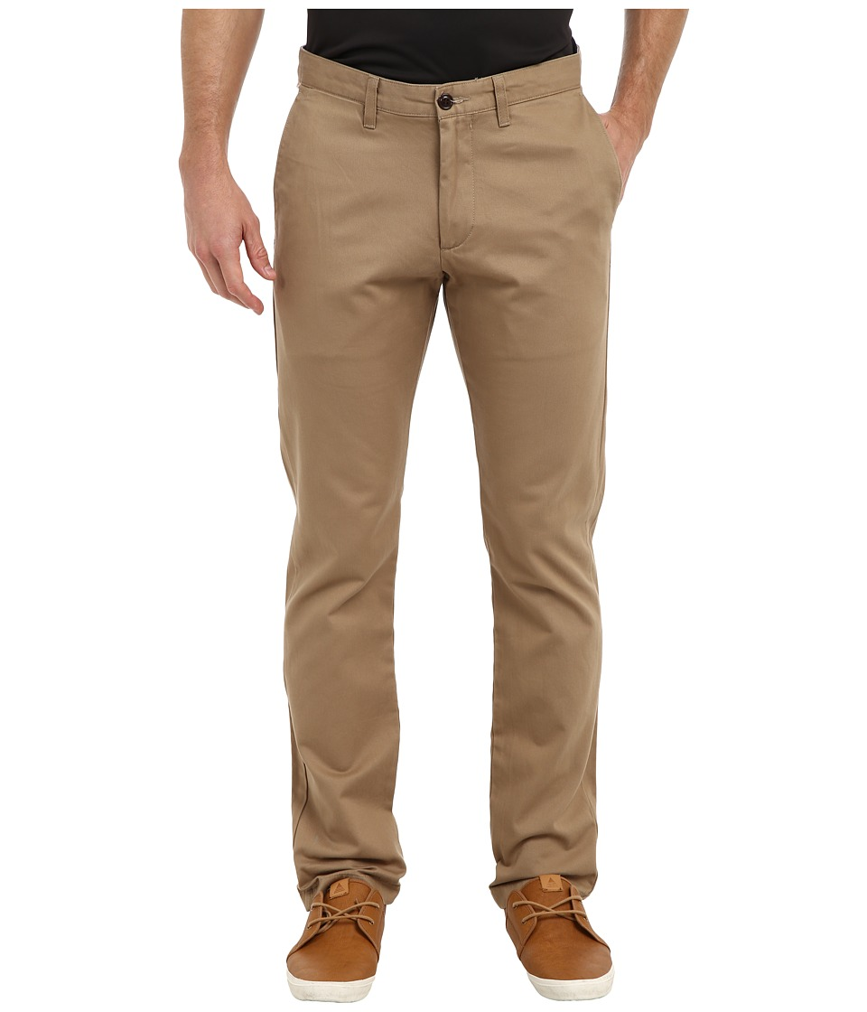 Dockers - Game Day Alpha Khaki Slim Tape Red Flat Front Pant (Oklahoma - New British Khaki) Men's Casual Pants