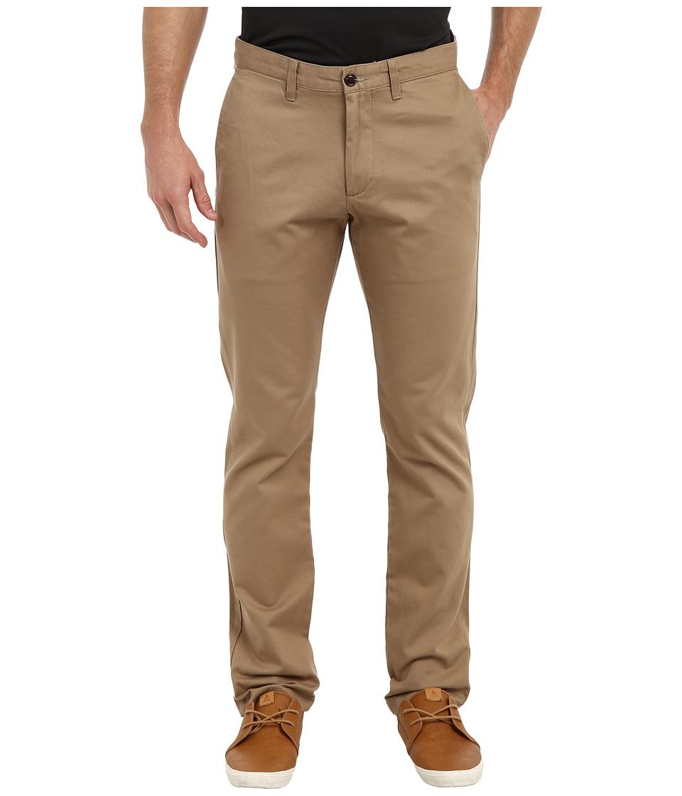 Dockers - Game Day Alpha Khaki Slim Tape Red Flat Front Pant (Oklahoma - New British Khaki) Men's Casual Pants