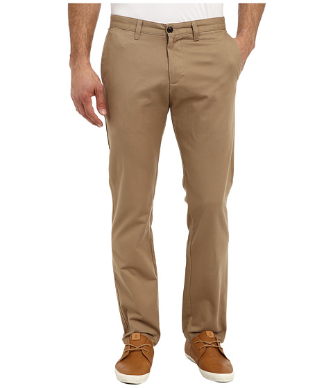 Dockers Men's - Game Day Alpha Khaki Slim Tape Red Flat Front Pant (Virginia - New British Khaki) Men's Casual Pants