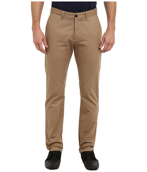 Dockers Men's - Game Day Alpha Khaki Slim Tape Red Flat Front Pant (Brigham Young (BYU) - New British Khaki) Men's Casual Pants