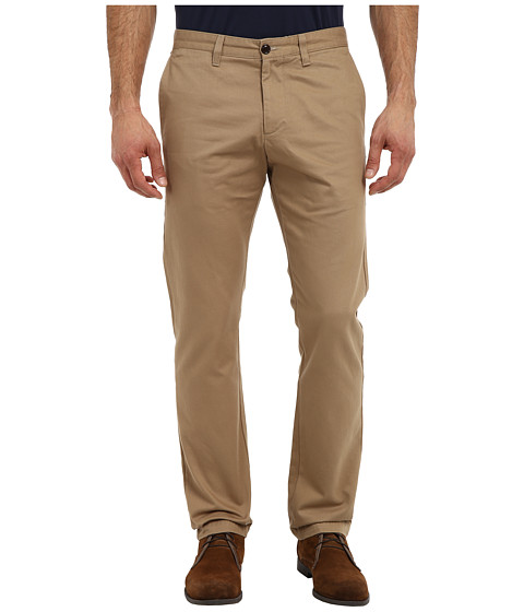 Dockers Men's - Game Day Alpha Khaki Slim Tape Red Flat Front Pant (Connecticut - New British Khaki) Men's Casual Pants
