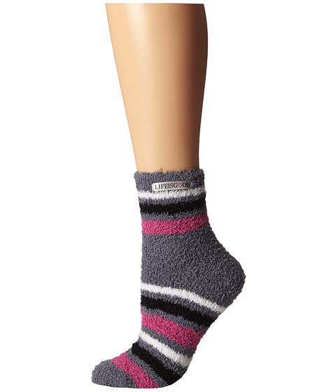 Life is good - Lightweight Snuggle Crew (Smoky Grey) Women's Crew Cut Socks Shoes