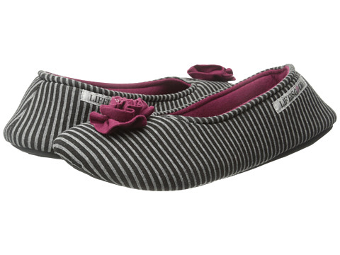 Life is good - Rosette Ballet Slipper (Night Black) Women's Slippers