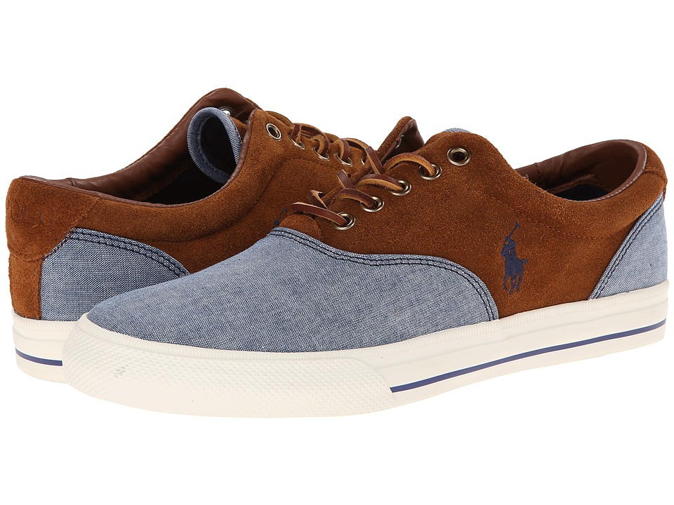 Polo Ralph Lauren - Vaughn Saddle (Blue/New Snuff/Chambray/Sport Suede) Men's Lace up casual Shoes
