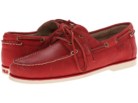 Polo Ralph Lauren - Bienne II (RL Red/Pebbled Nubuck) Men's Lace up casual Shoes
