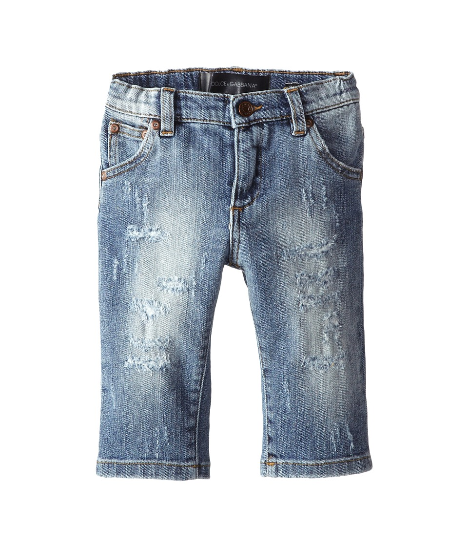 Dolce & Gabbana Kids - Distressed Five-Pocket Jean (Infant) (Blue) Boy's Jeans